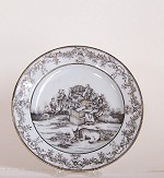 A GRISAILLE NATIVITY  PLATE