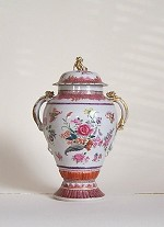a FAMILLE  ROSE  URN  and  COVER