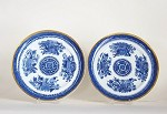 a PAIR of  BLUE  FITZHUGH  DINNER  PLATES