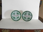 Green Fitzhugh Side Plates with American Eagle