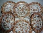set of six Sacred Bird and Butterfly side plates